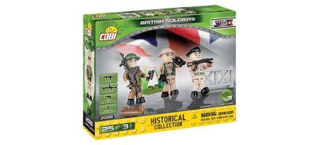 Soldats Britanniques - 3 figurines avec accessoires