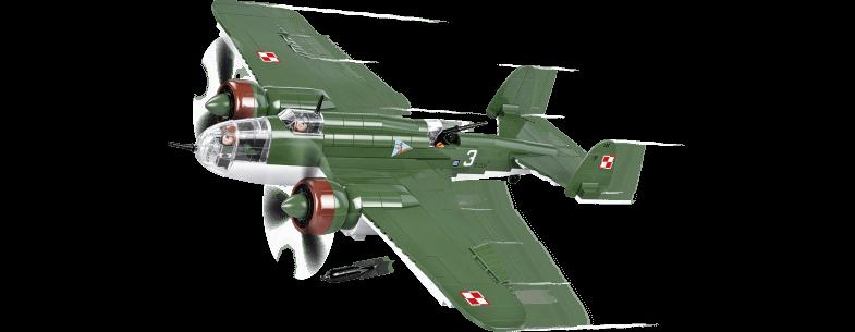 Bombardier polonais PZL P-37B ŁOŚ