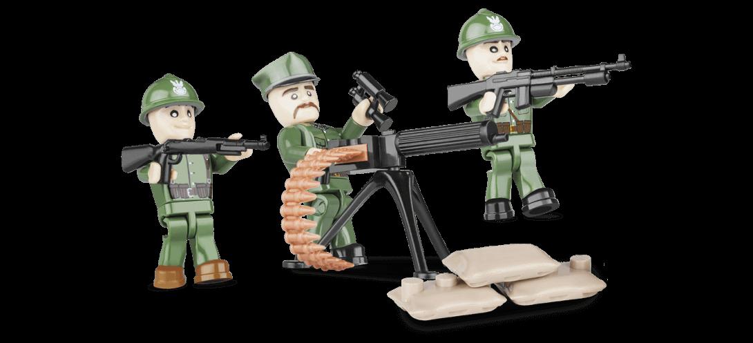 Soldats Polonais - 3 figurines avec accessoires