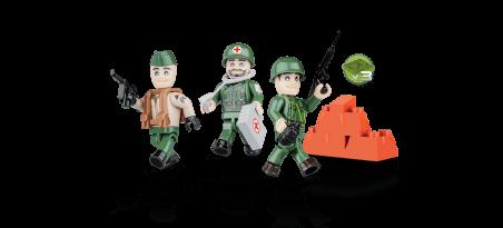 Soldats Américains - 3 figurines avec accessoires