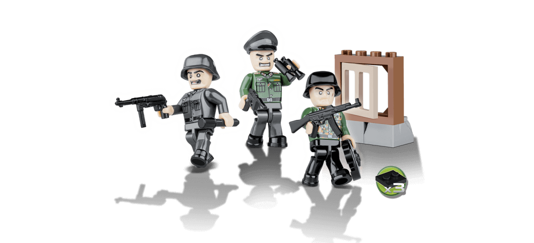 Soldats Allemands - 3 figurines avec accessoires