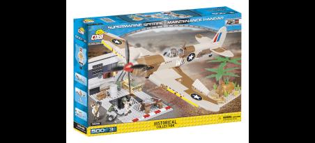 Chasseur Supermarine Spitfire Mk.IX - Hangar de maintenance