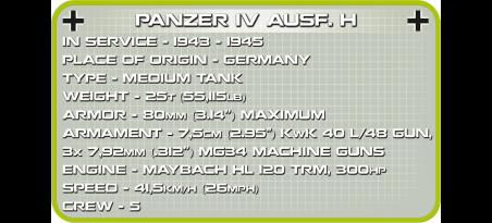 Char allemand PANZER IV AUSF.F1/G/H 3en1