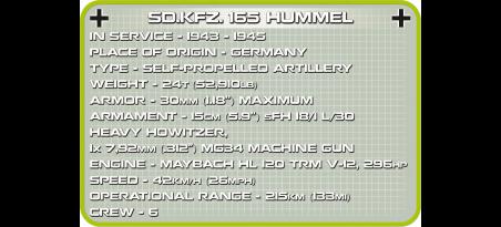 Canon autoporté allemand SD.KFZ.165. HUMMEL