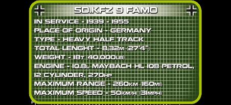 Half-track allemand SK.KFZ 9 FAMO