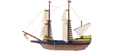 Bateau explorateur The Mayflower