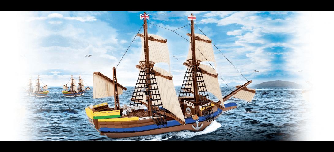 Bateau explorateur The Mayflower