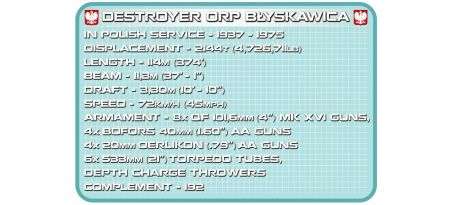 Torpilleur polonais ORP BŁYSKAWICA