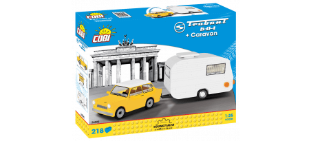 Voiture TRABANT 601 + Caravane