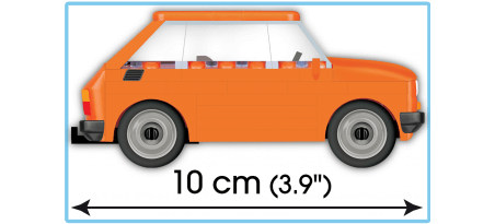 Voiture FIAT 126P + Caravane