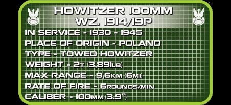Obusier Howitzer 100 mm Wz. 1914/19P
