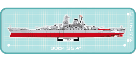 Cuirassé japonais YAMATO - COBI-4814