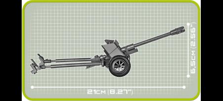 Canon antichar allemand 7,5 cm PaK 40 - COBI-2398