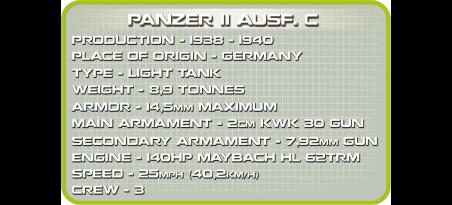 Char léger allemand PANZER II AUSF. C - COBI-2459