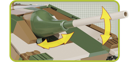 Chasseur de chars allemand JAGDPANZER 38 - COBI-2382