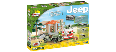 Jeep Willys MB avec check-point - COBI-24302