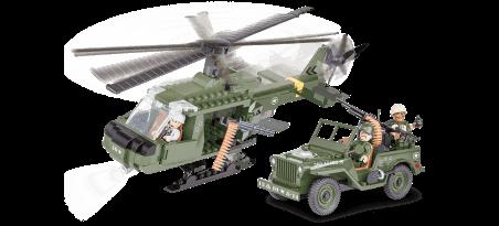 Jeep Willys MB avec hélicoptère - COBI-24254