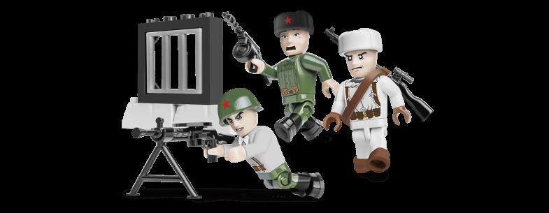 Soldats armée rouge - Hiver - COBI-2032