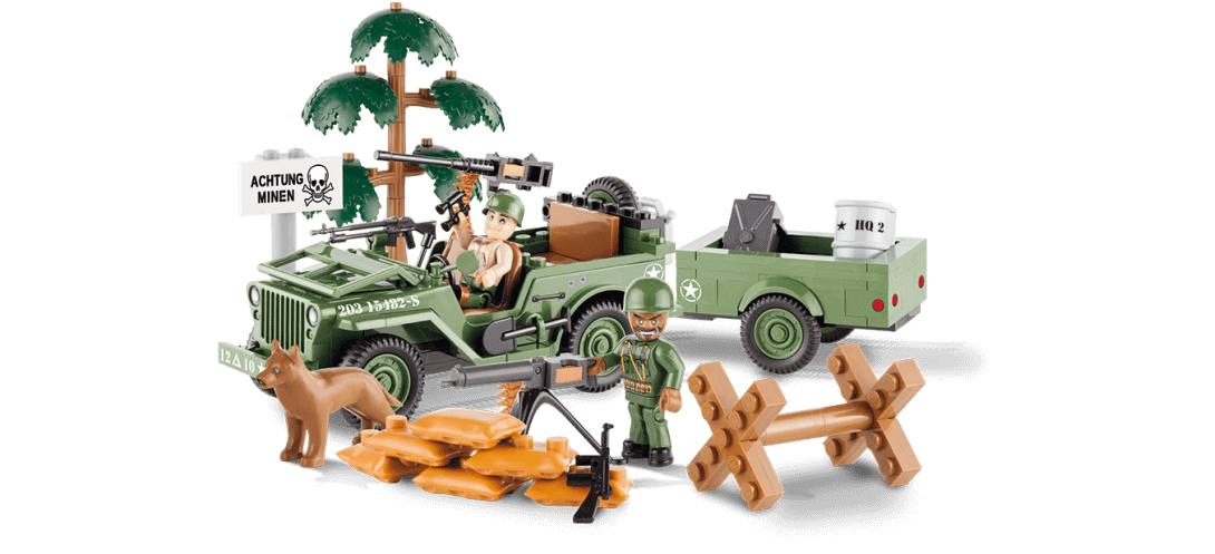 Jeep Willys MB avec remorque - COBI-24192