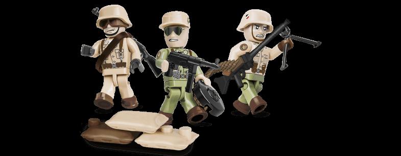 Soldats allemands Afrika Korps COBI 2034