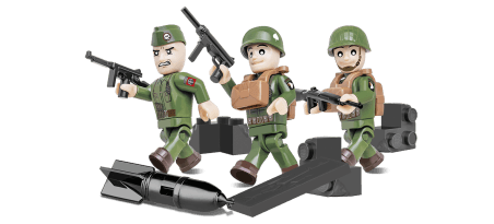 Parachutistes américains - 3 figurines avec accessoires Référence COBI-2033