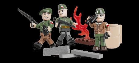 Insurgés de Varsovie - 3 figurines avec accessoires Référence COBI-2035
