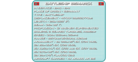 Cuirassé allemand BISMARCK Pad Printed