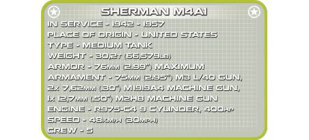 Char US SHERMAN M4A1 D-DAY