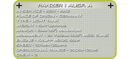Char allemand PANZER I AUSF.A