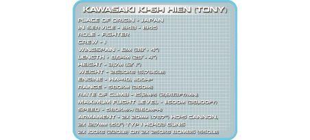 Chasseur japonais KAWASAKI KI-61-I HIEN (TONY)