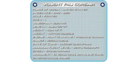 Chasseur US VOUGHT F4U CORSAIR
