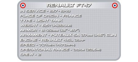 Char RENAULT FT-17